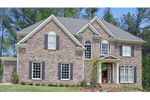 Stone Two-Story With European Style Formality