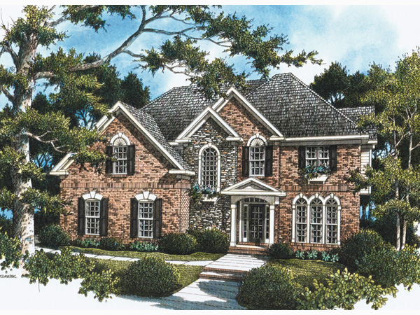 European House Plan Front Photo 02 052D-0087