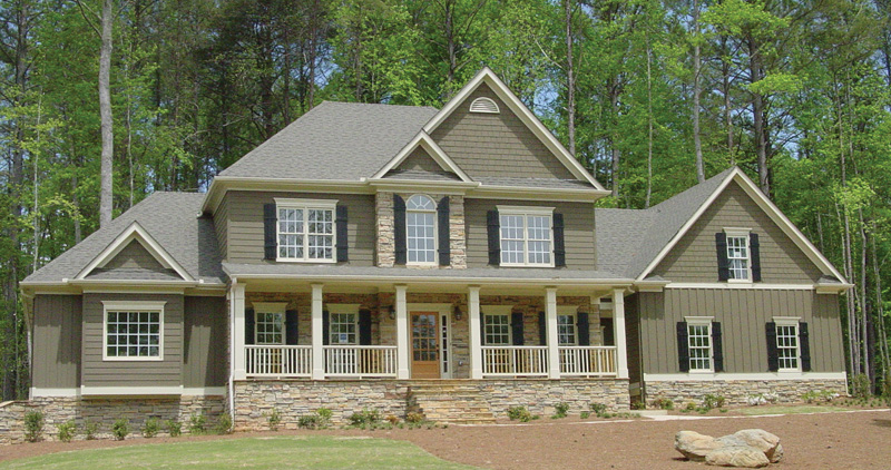 Rose hill luxury country home plan 052d 0088 house plans for Country farmhouse floor plans