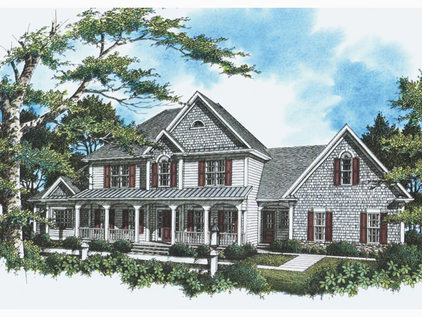 Shingle House Plan Front Photo 02 - 052D-0088 | House Plans and More