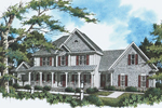 Farmhouse Home Plan Front Photo 02 - 052D-0088 | House Plans and More