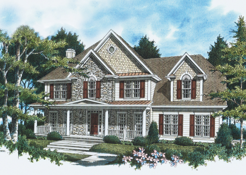 Full Front Porch Is A Focal Point Of This Home