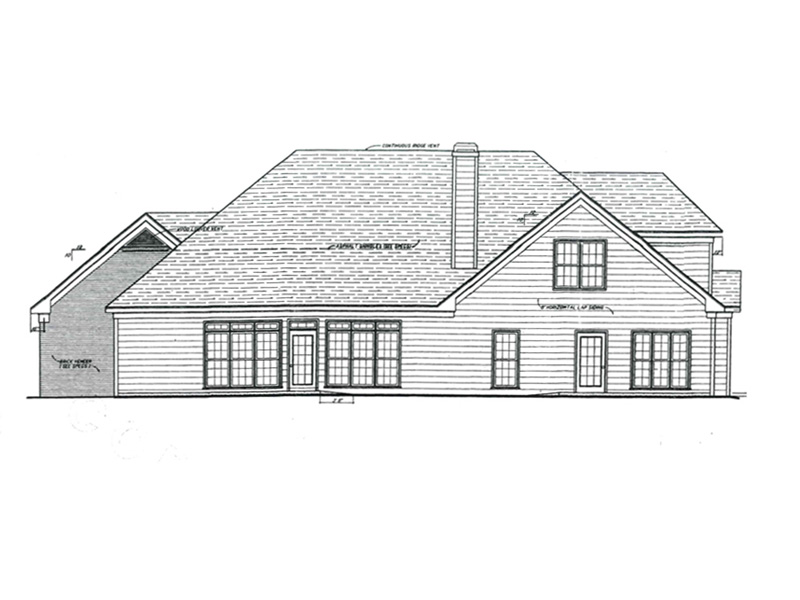 Luxury House Plan Rear Photo 01 - 052D-0093 | House Plans and More