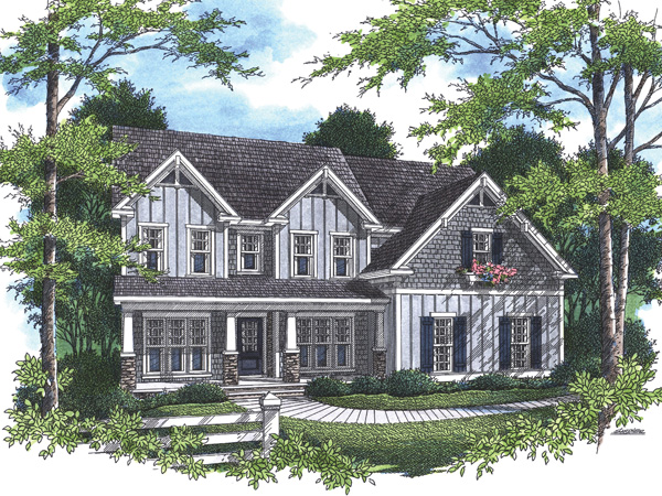 Tudor House Plan Front Photo 01 - 052D-0097 | House Plans and More