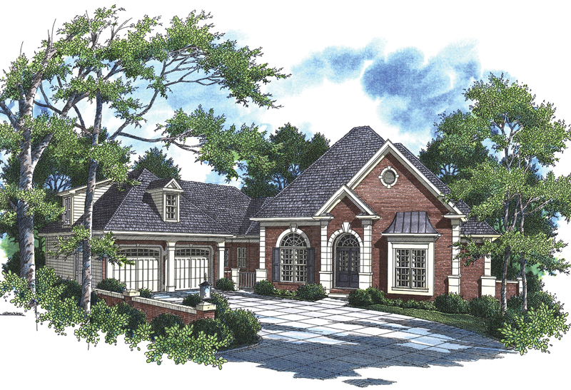 Luxurious One-Story Home With Handsome Details And Side Entry Garage