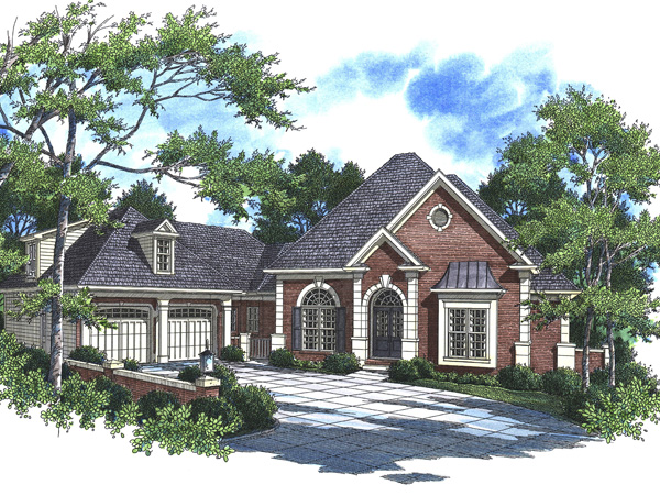 Ranch House Plan Front Photo 01 - 052D-0101 | House Plans and More