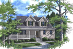 Cape Cod and New England Plan Front of Home - 052D-0104 | House Plans and More