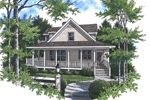 Country Farmhouse Style Has Lowcountry Appeal With Covered Porch