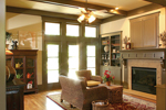 Craftsman House Plan Living Room Photo 01 - 052D-0121 | House Plans and More