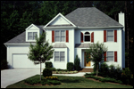 Early American House Plan Front of Home - 052D-0153 | House Plans and More