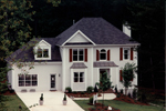 Early American House Plan Front Photo 01 - 052D-0153 | House Plans and More