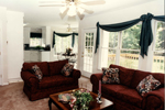 Plantation House Plan Living Room Photo 01 - 052D-0153 | House Plans and More