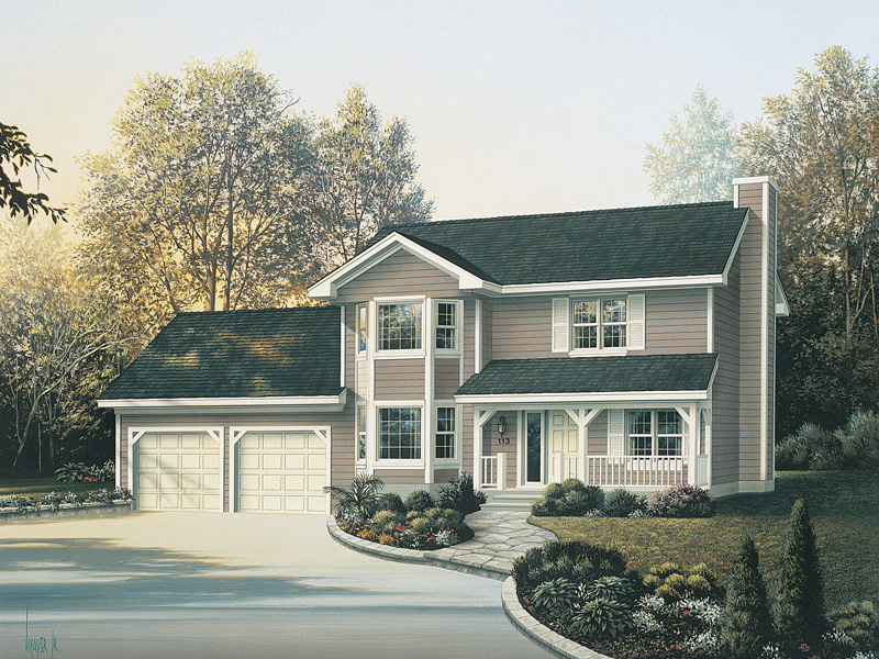 Traditional House Plan Front Image 053D-0003