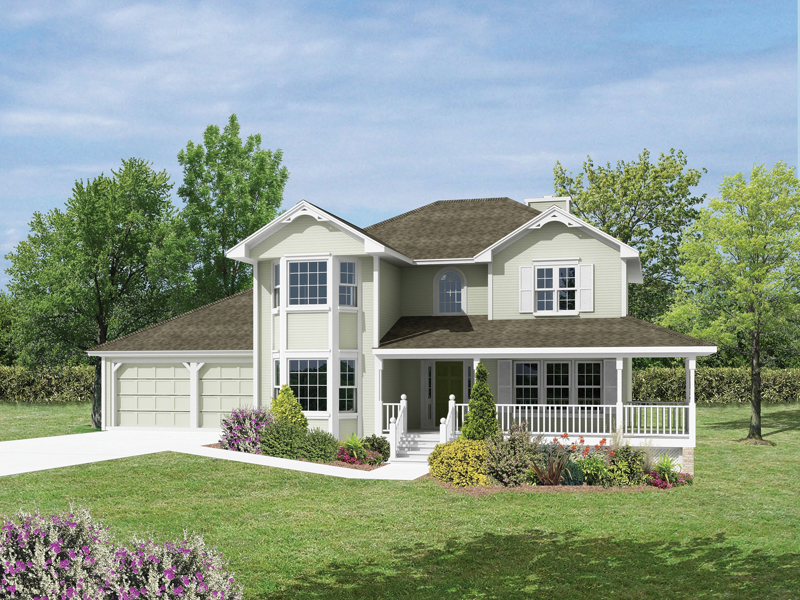 Traditional House Plan Front Image 053D-0007