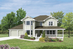 Traditional House Plan Front Image - 053D-0007 | House Plans and More