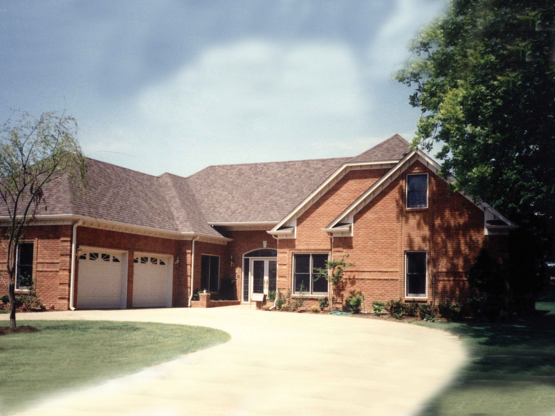 Country French House Plan Front of Home 053D-0011