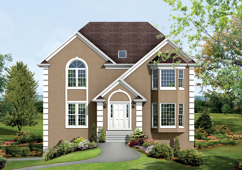 Traditional House Plan Front Photo 02 053D-0014