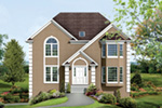 Colonial Floor Plan Front Photo 02 - 053D-0014 | House Plans and More
