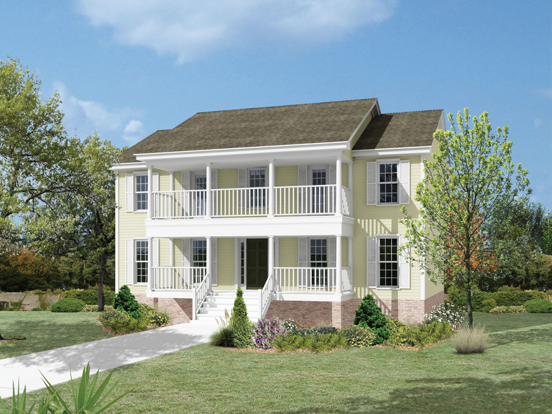 Colonial House Plan Front Image - 053D-0016 | House Plans and More