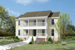 Lowcountry Home Plan Front Image - 053D-0016 | House Plans and More