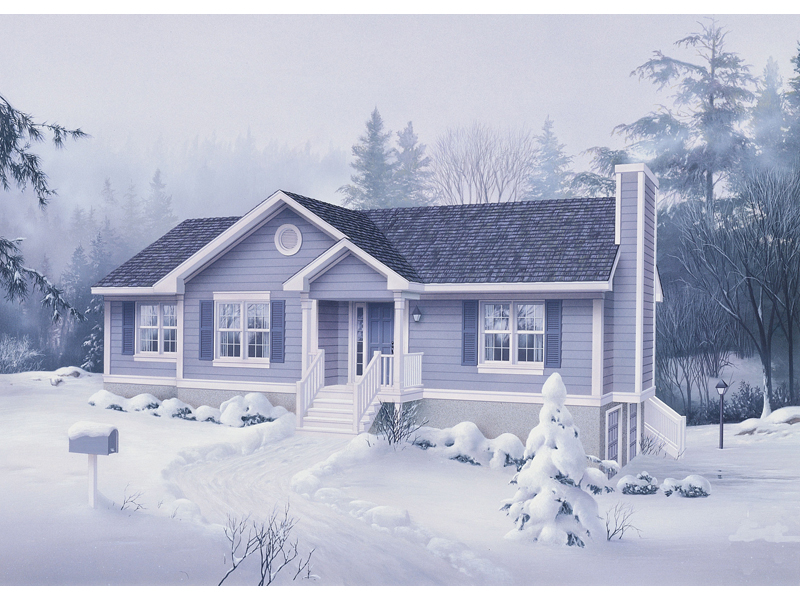 Cabin and Cottage Plan Front of Home 053D-0029