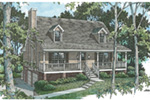 Vacation House Plan Front Image - 053D-0030 | House Plans and More
