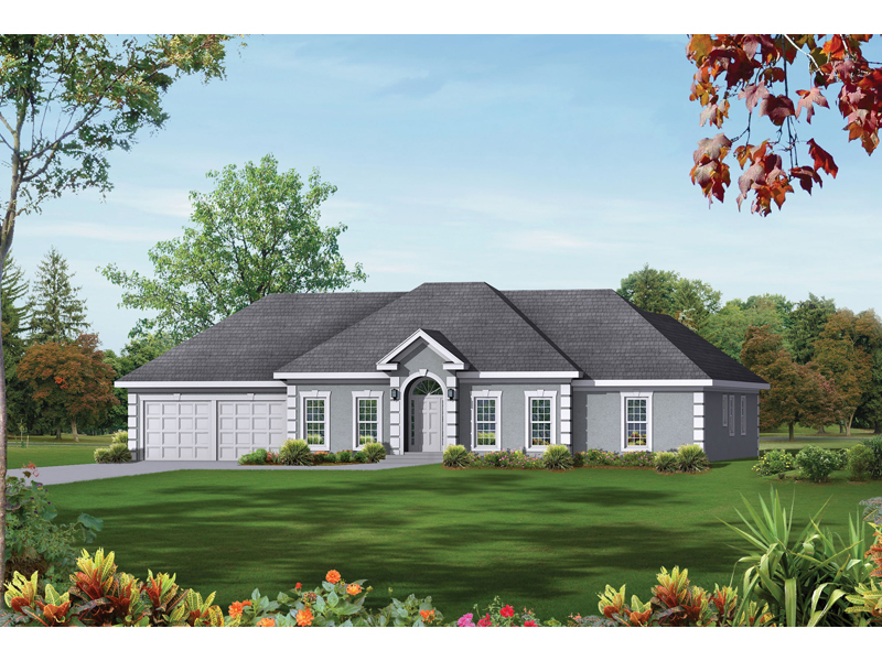 Ranch House Plan Front Image 053D-0031