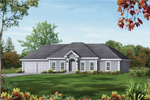 Ranch House Plan Front Image - 053D-0031 | House Plans and More