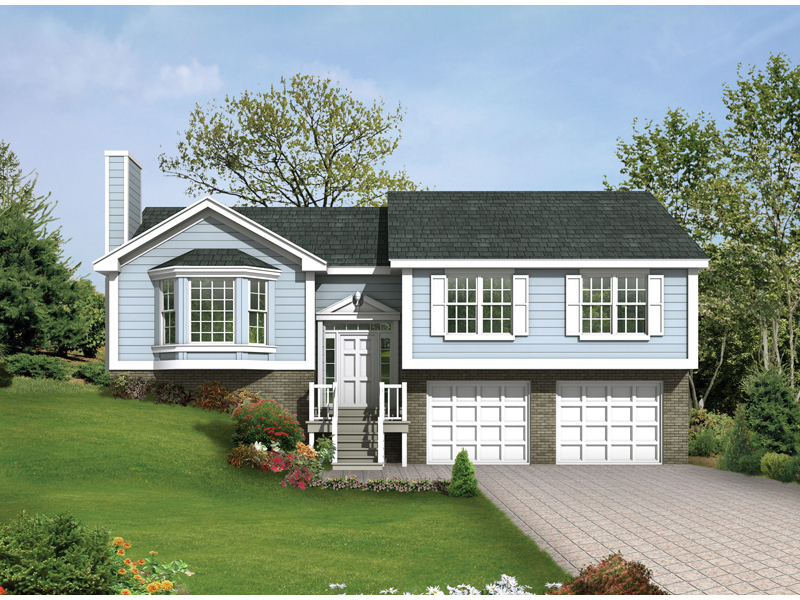 Traditional House Plan Front of Home 053D-0032