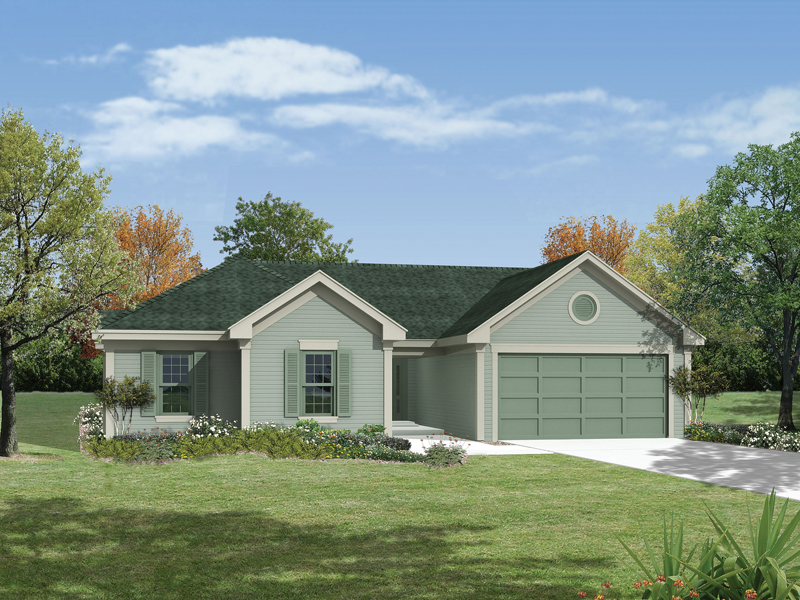 Ranch Style Home With Symmetrically Pleasing Front Façade