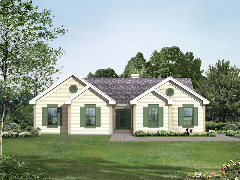 Ranch House Plan Front Image - 053D-0044 | House Plans and More