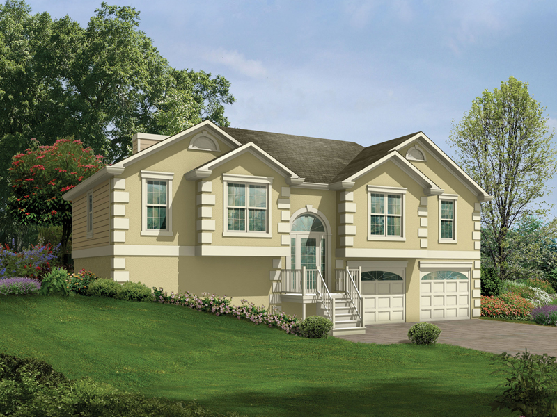 Penfield split level home plan 053d 0049 house plans and for Bi level home designs