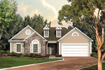 Home's Dormers And Stone Veneer Add Exterior Appeal