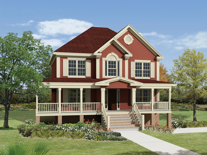 Lowcountry Home Plan Front Image 053D-0056