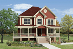 Farmhouse Plan Front Image - 053D-0056 | House Plans and More
