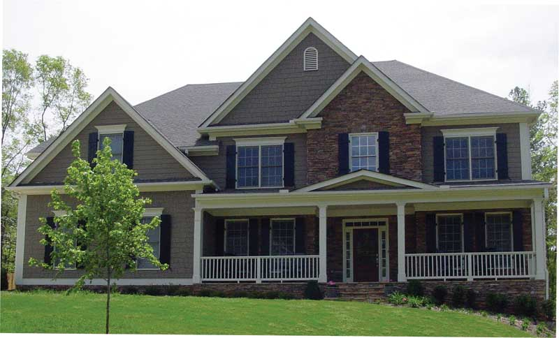 Craftsman House Plan Front of Home 053D-0063