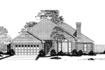 Ranch House Plan Front Image of House - 055D-0001 | House Plans and More