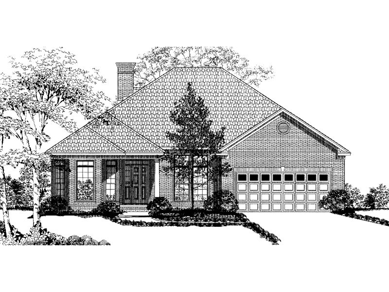 Traditional House Plan Front Image of House - 055D-0002 | House Plans and More