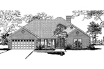 Neoclassical Home Plan Front Image of House - 055D-0004 | House Plans and More