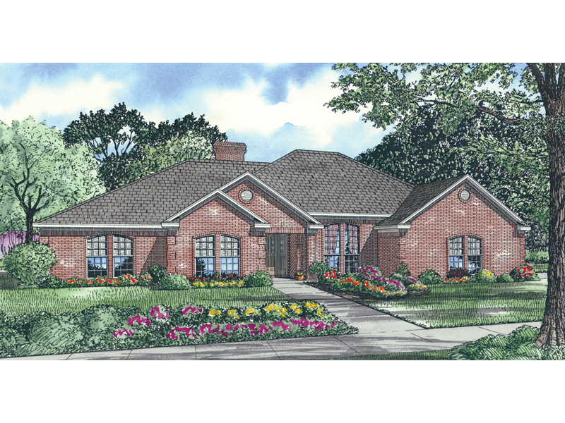 Traditional House Plan Front Image of House - 055D-0006 | House Plans and More