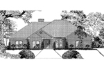 Ranch House Plan Front Image of House - 055D-0008 | House Plans and More