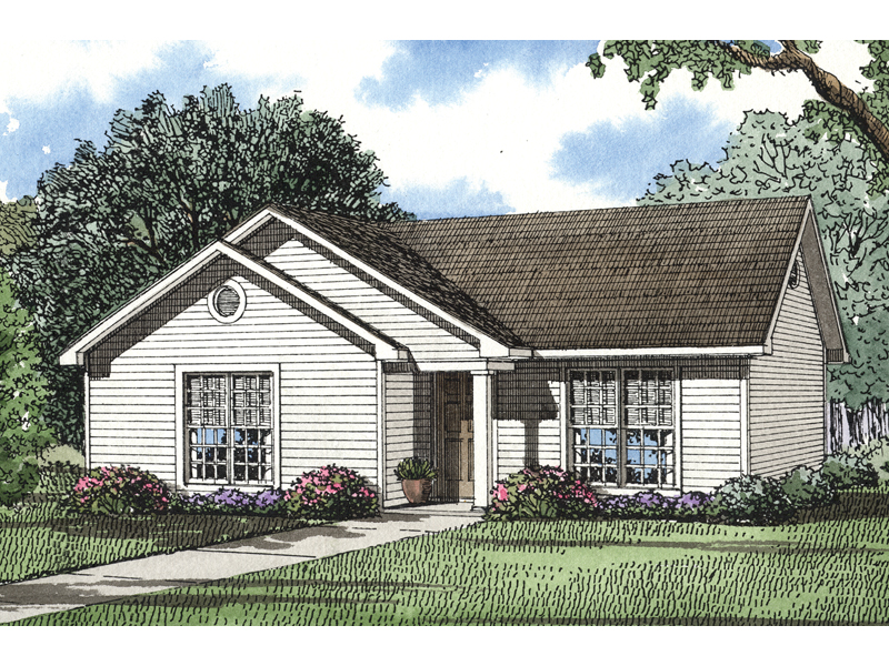 All Siding Ranch Home With Cottage Appeal