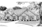 Traditional House Plan Front Image of House - 055D-0015 | House Plans and More