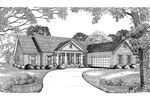 Neoclassical Home Plan Front Image of House - 055D-0018 | House Plans and More