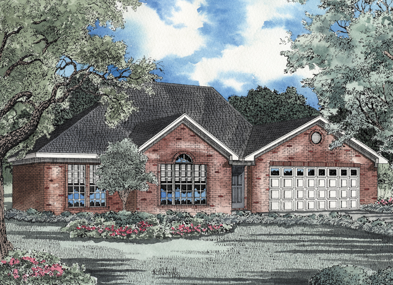 Traditional House Plan Front Image - 055D-0024 | House Plans and More