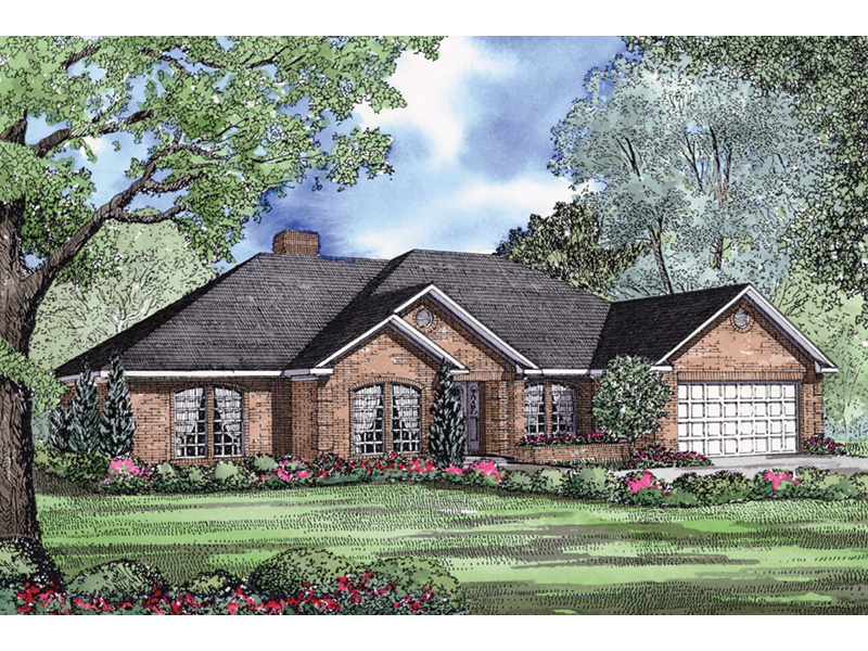 Traditional House Plan Front Image - 055D-0030 | House Plans and More