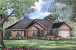 Ranch House Plan Front Image - 055D-0030 | House Plans and More