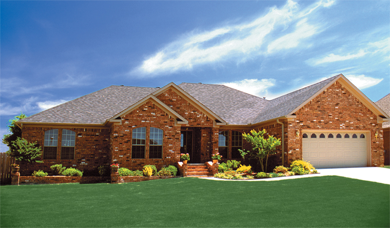 Ranch House Plan Front of Home 055D-0030