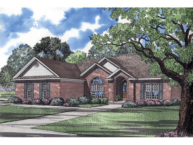 Traditional House Plan Front Image - 055D-0031 | House Plans and More