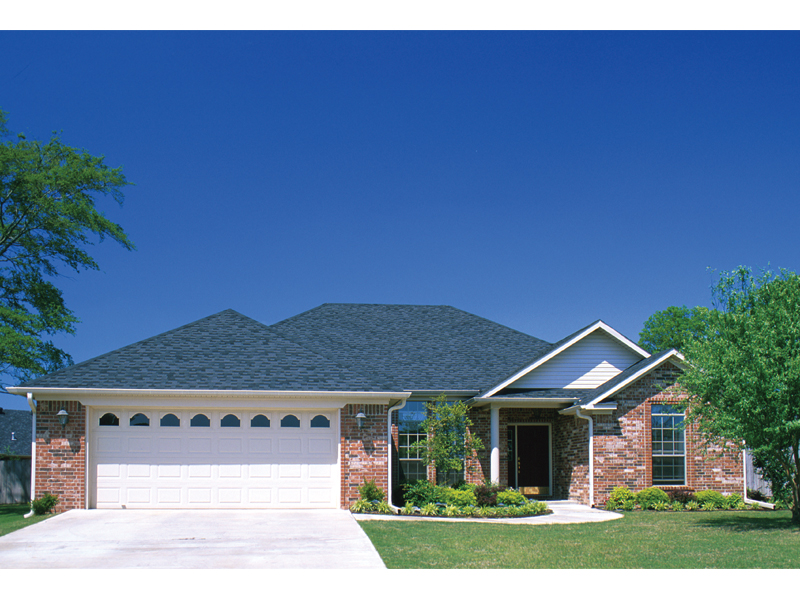 Traditional Brick Ranch With Hip Roof Design